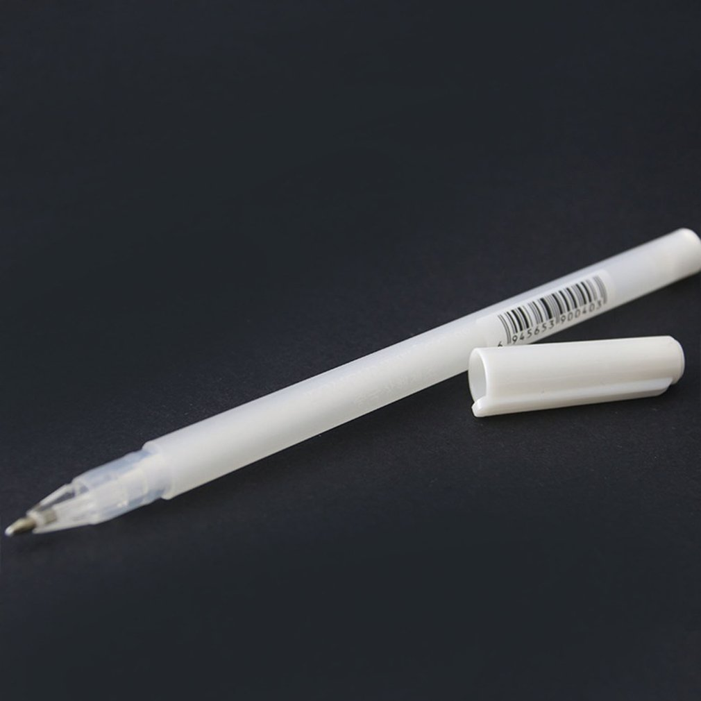 1 Pcs Highlight Pen Black Card Hand-painted White Marker White Marker Pen Sign High Quality