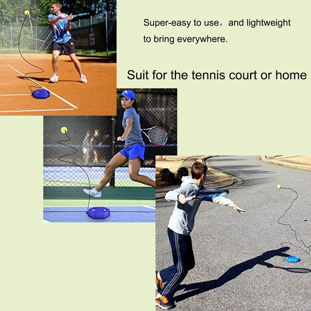 Tennis Practice Trainer Single Self study Tennis Training Tool With Elastic Rope Ball Rebound Tennis Exercise