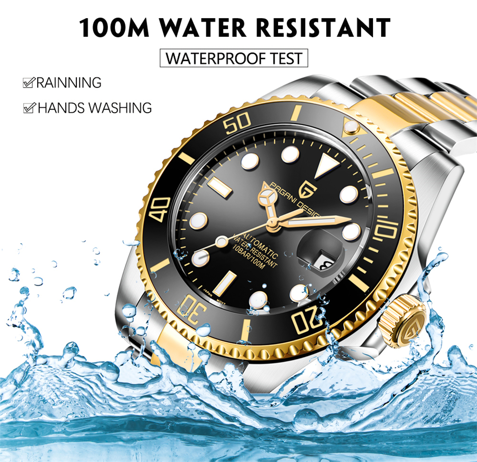 He02cafff464242ceafd905a43e56b93dw PAGANI2019 Design Brand Luxury Men Watches Automatic Black Watch Men Stainless Steel Waterproof Business Sport Mechanical