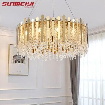 Nordic Led Chandeliers Living room decor Minimalist Gold Crystal Lamp For Bedroom Dining Light Kitchen lustres de plafond