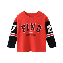 Children T Shirts Long-Sleeve  Autumn Baby Boys Kids Girls Cotton Cartoon Tops Clothing Clothes Spring Print Letter недорого