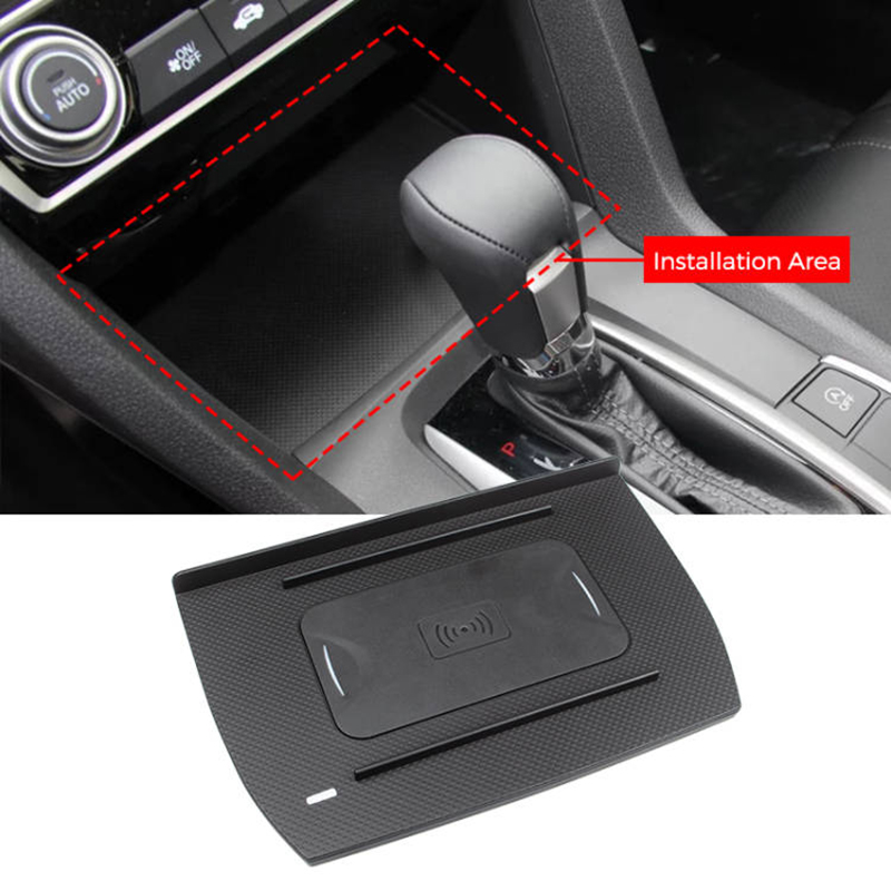 10w Qi Car Wireless Charger Wireless Phone Charging For Honda Civic 2016 2020 Ebay