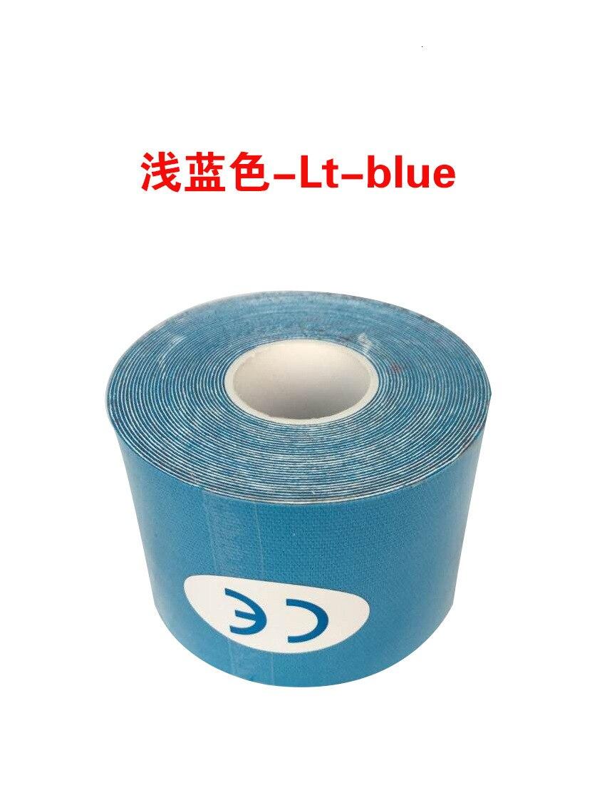 Кинезиологическая лента Атлетическая эластопласт спортивная водонепроницаемая лента медицинская терапия самоклеющаяся повязка на колено Защитная муфта для мышц L2147SPA - Цвет: Синий