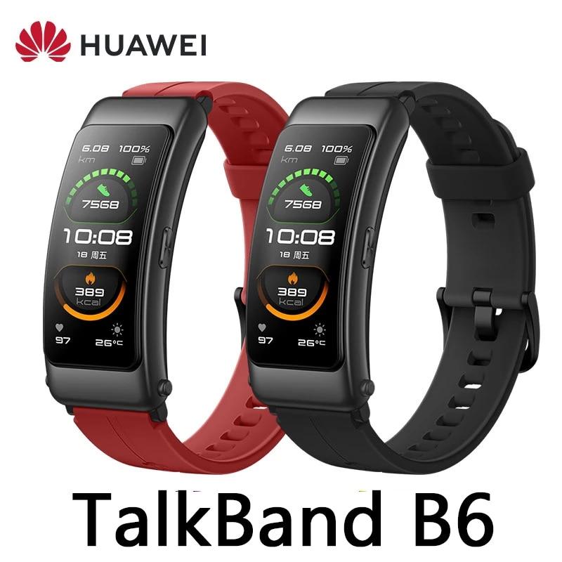Смарт-браслет Huawei TalkBand B6, спортивный браслет с поддержкой Bluetooth, с AMOLED экраном