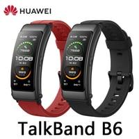 Huawei-pulsera inteligente TalkBand B6, dispositivo deportivo con Bluetooth, pantalla táctil AMOLED, para llamadas y auriculares