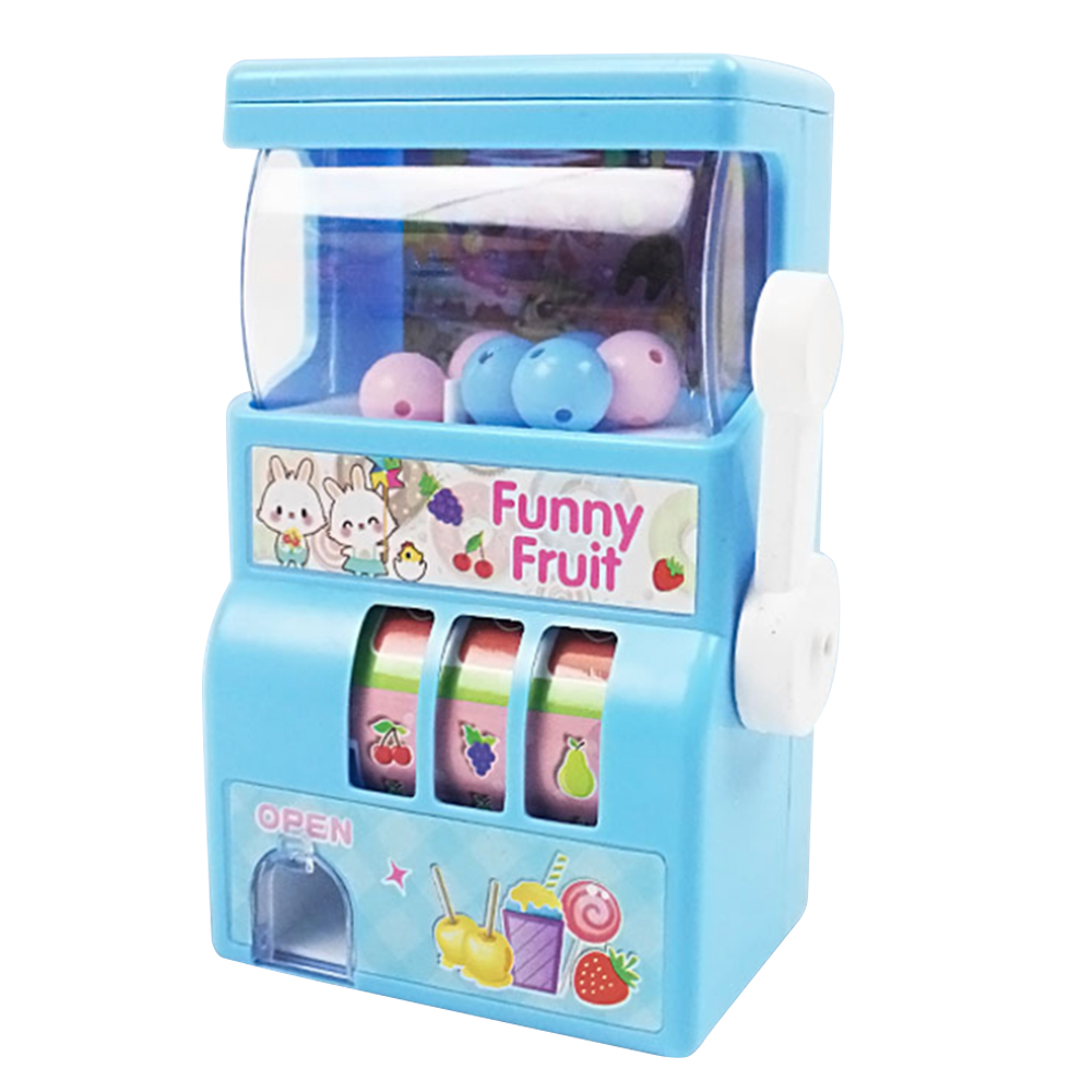 Vintage Manual Mini Slot Machine Lucky Toy Simulation Lottery Fruit Machine For Kid Children Educational Lottery Machine Toys