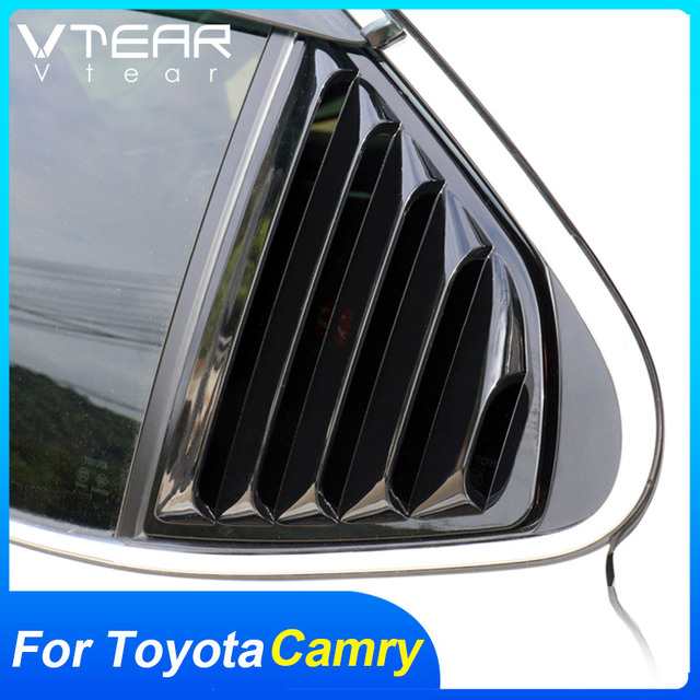 Vtear For Toyota Camry Rear window triangle ABS decoration car-styling cover exterior frame chrome accessories Trim parts 2020 1
