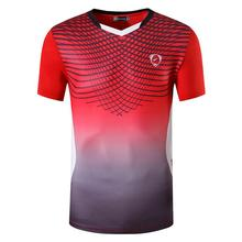 jeansian Sport Tee Shirt Tshirt T-shirt Running Gym Fitness Workout Football Short Sleeve Dry Fit LSL248 Red