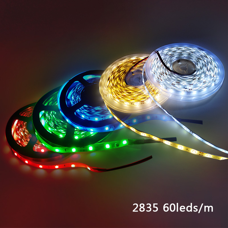 5meter 300Led No Waterproof Warm White RGB 5m Led Strip Light 2835 3528 DC 12V 60Led/M Flexible Lighting String Ribbon Tape Lamp