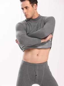 Pants-Sets Shirt Thermal-Underwear Velvet Long-Johns Warm Thick Winter Mens Autumn Plus