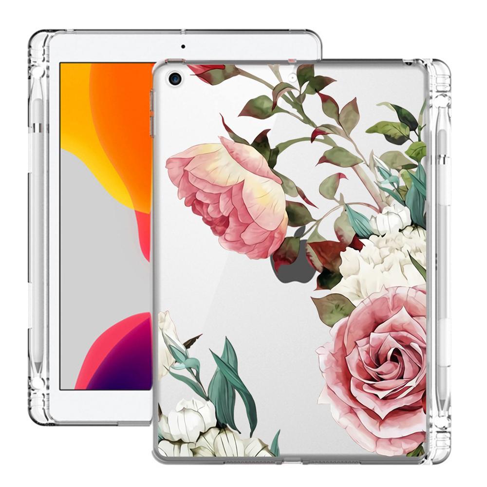Цветочные художественные 10 2 ipad 7th поколения Чехол Air 4 планшет с карандашница Pro 12 9 2020 крышка Mini 5 случаях ipad Air/Air 2/Pro 11 Air 3 пакета (ов)