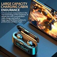 Fone de ouvido sem fio bluetooth 5.0 um par mini invisível pequeno na orelha esportes correndo super longa espera universal