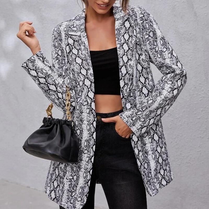 He02dc02dbcea4c608bd43fecac02f9d2w Fashion Trend Women Lapel Leopard Print Long Sleeves Suit Jacket Elegant Fall Winter Office Lady Cardigan Coat Casual Streetwear