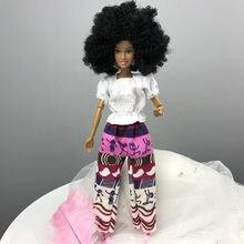 2019 quente móvel conjunta africano boneca de brinquedo da menina do bebê bonecas meninas aniversário móvel conjunta africano boneca brinquedo preto princesa