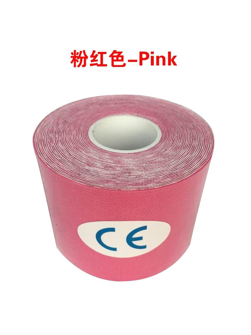Кинезиологическая лента Атлетическая эластопласт спортивная водонепроницаемая лента медицинская терапия самоклеющаяся повязка на колено Защитная муфта для мышц L2147SPA - Цвет: Розовый