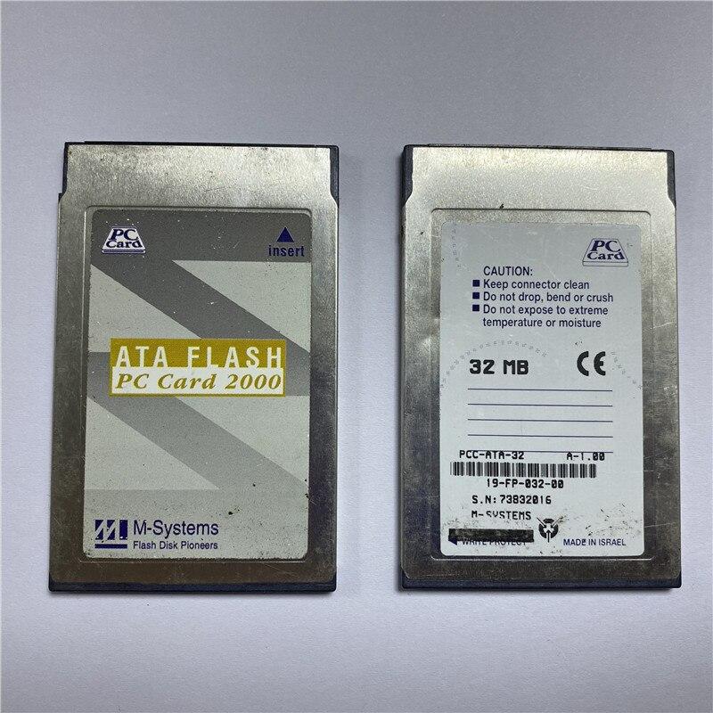 Карта памяти для ПК 32 Мб, карта промышленного хранения ATA, флеш-карта для ПК 2000 68 отверстий, карта памяти PCMCIA