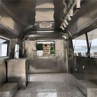 Superventas pequeño 304 camión de comida de acero inoxidable para la venta 4