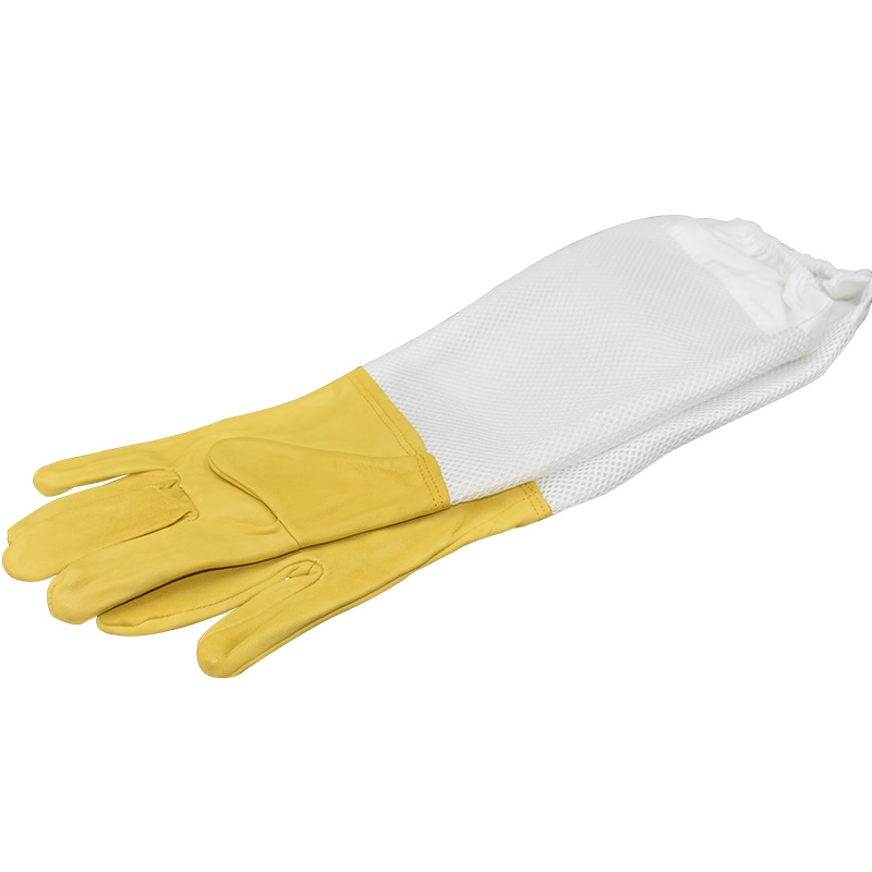Beekeeping Gloves Protective Sleeves Ventilated Professional Sheepskin And Mesh Bee For Apiculture  Beekeeping Gloves