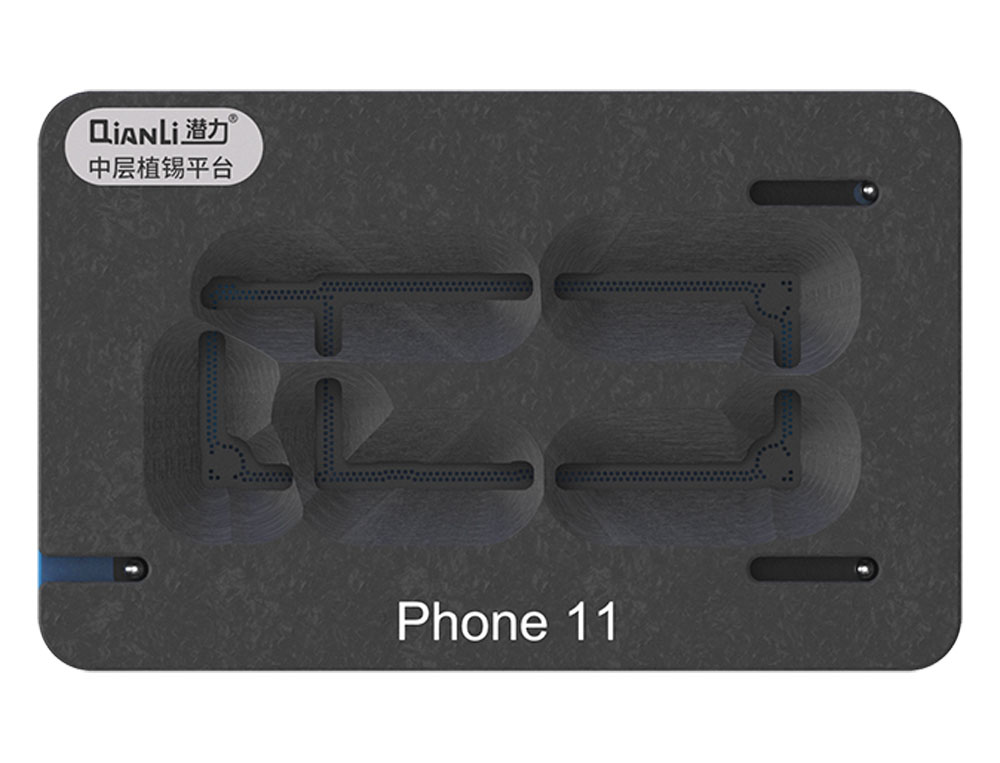 Qianli 3D BGA Reballing Stencil Platform for iPhone X/XS/MAX 11 Pro Max Motherboard Middle Layer Planting Tin Template Plate Net