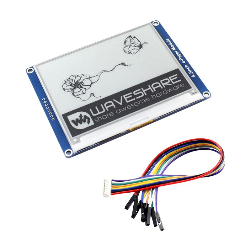 Raspberry Pi 4B 4.2inch E-Paper Module Black/White E-Ink Display With SPI Interface For Arduino/Nucleo/STM32/Raspberry Pi 3B