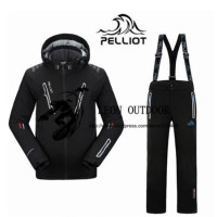 2019 New Pelliot Male Ski Suits Jacket+Pants Men's Water proof Breathable TThermal Cottom padded Snowboard Suit Men Ski Jacket