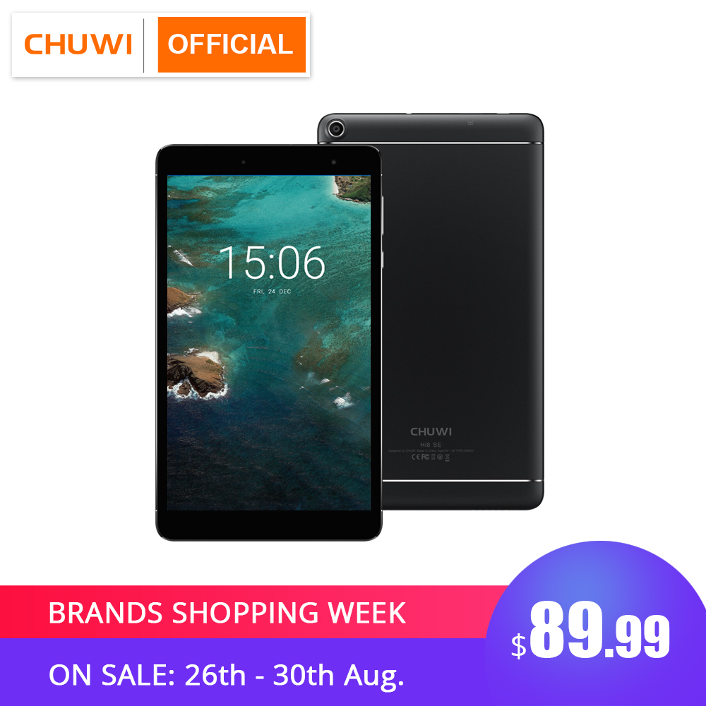 CHUWI Hi8 SE MTK8735 Quad Core Android 8.1 Tablets 2GB RAM 32GB ROM Dual Camera Dual WIFI 2.4G/5G 8 inch 1920*1200 Tablet PC Зарядное устройство