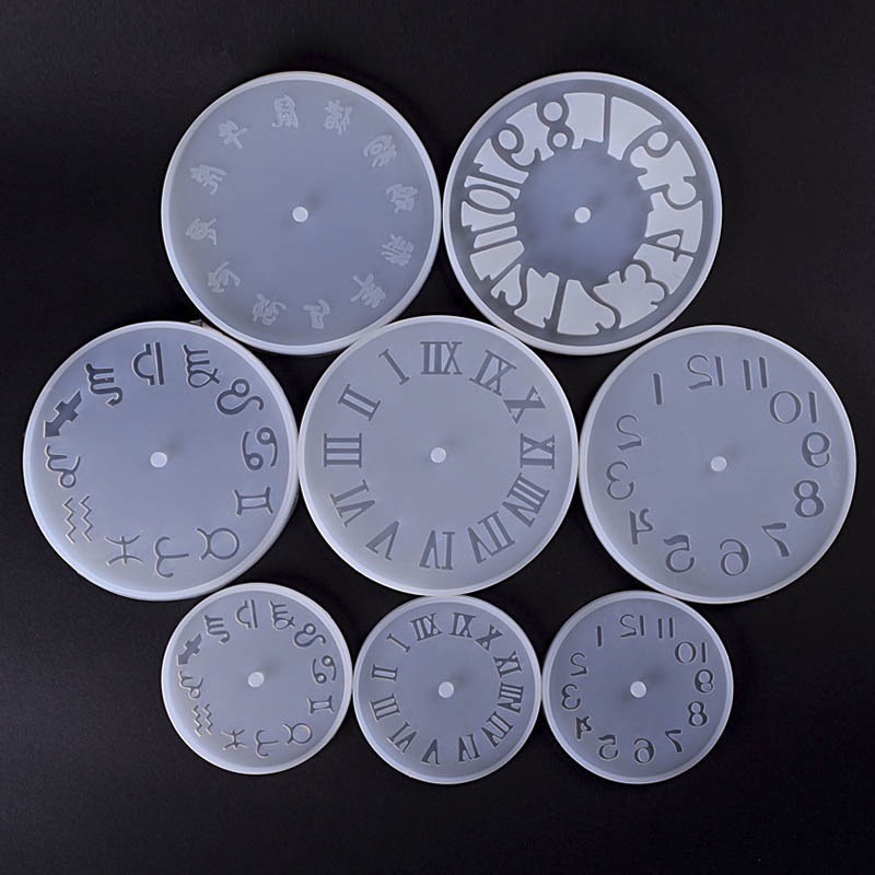 10/15cm DIY Epoxy Resin Molds Silicone Clock Mold Dried Flower Resin Silicone Mold For Jewelry Making Handmade Crafts Findings