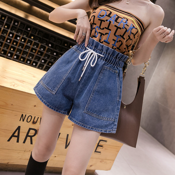 S-5XL 2020 spring and summer new large size shorts womens high waist loose comfortable XXXXXL