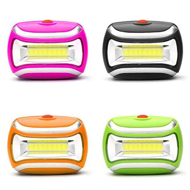COB açık LED kafa lambası Torch 3W far 600 lümen parlak ayarlanabilir açı pil için en iyi kamp balıkçılık