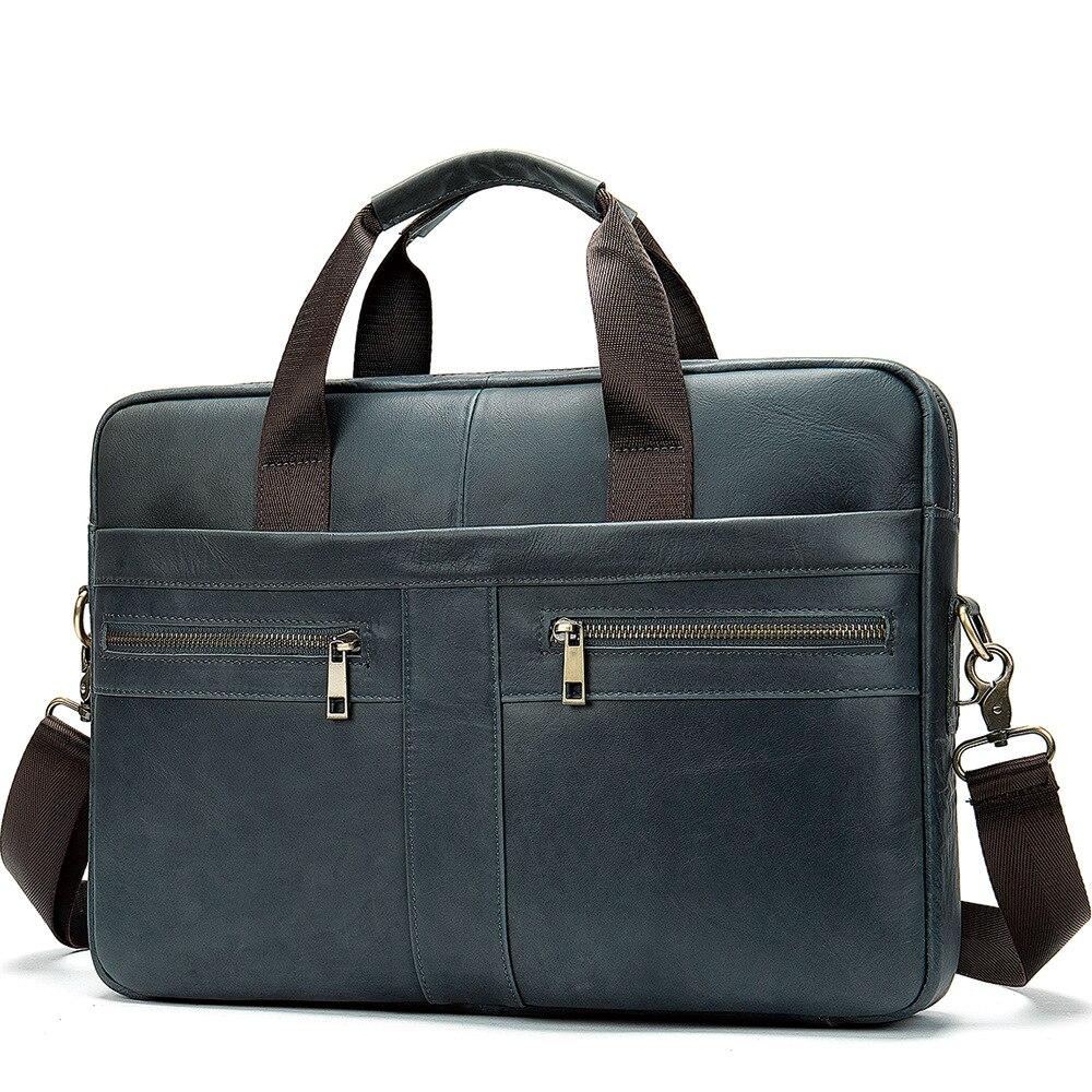 Westal hommes porte-documents sac hommes en cuir véritable pochette d'ordinateur fourre-tout d'affaires pour Document bureau ordinateur Portable sac à bandoulière 2020