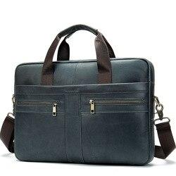 Bolso de hombre Westal, bolso de cuero auténtico para ordenador portátil, bolso de negocios para documentos de oficina, bolso de hombro portátil para ordenador portátil 2020