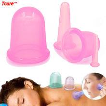 Купить с кэшбэком 4Pcs/Set Hot Anti cellulite Silicone Vacuum Massage Cupping Cup