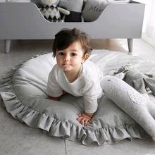 Скандинавский детский коврик хлопковый мягкий игровой на полу