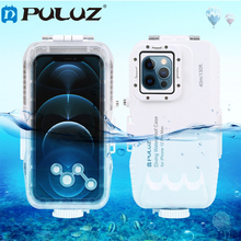 PULUZ 40m/130ft Waterproof Diving Housing Photo Video Taking Underwater Cover Case for iPhone 12 mini /12 / 12 Pro/ 12 Pro Max