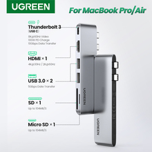 Ugreen Usb Type C Hub Dual USB C Om Multi Usb 3.0 Hdmi Voor Macbook Pro Air Adapter Thunderbolt 3 Dock usb C 3.1 Poort Type C Hub