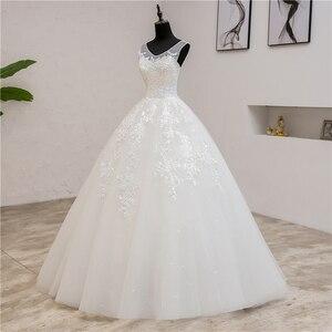 Image 4 - Fashion Classic simple V Neck Wedding Dresses Vestidos de novia Sweet Lace Applique elegant Girls Gowns Robe De Mariage 2019  8