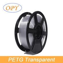 цены Filament 3D Petg 1.75 mm 1kg Printer Pet 1 -f- 75 Pet-g  White Orange Plastic 340 M