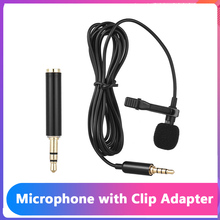 Andoer EY 510A Mini Portatile Clip on Risvolto Lavalier Microfono A Condensatore Microfono con cavo per la Macchina Fotografica DSLR per il iPhone iPad Android