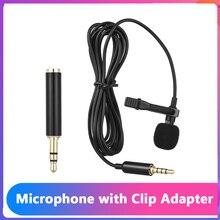Andoer микрофон EY 510A портативный мини конденсаторный микрофон с отворотом и петлей проводной микрофон для DSLR камеры для iPhone iPad Android микрофон для пк микрофон для компьютера микрафон