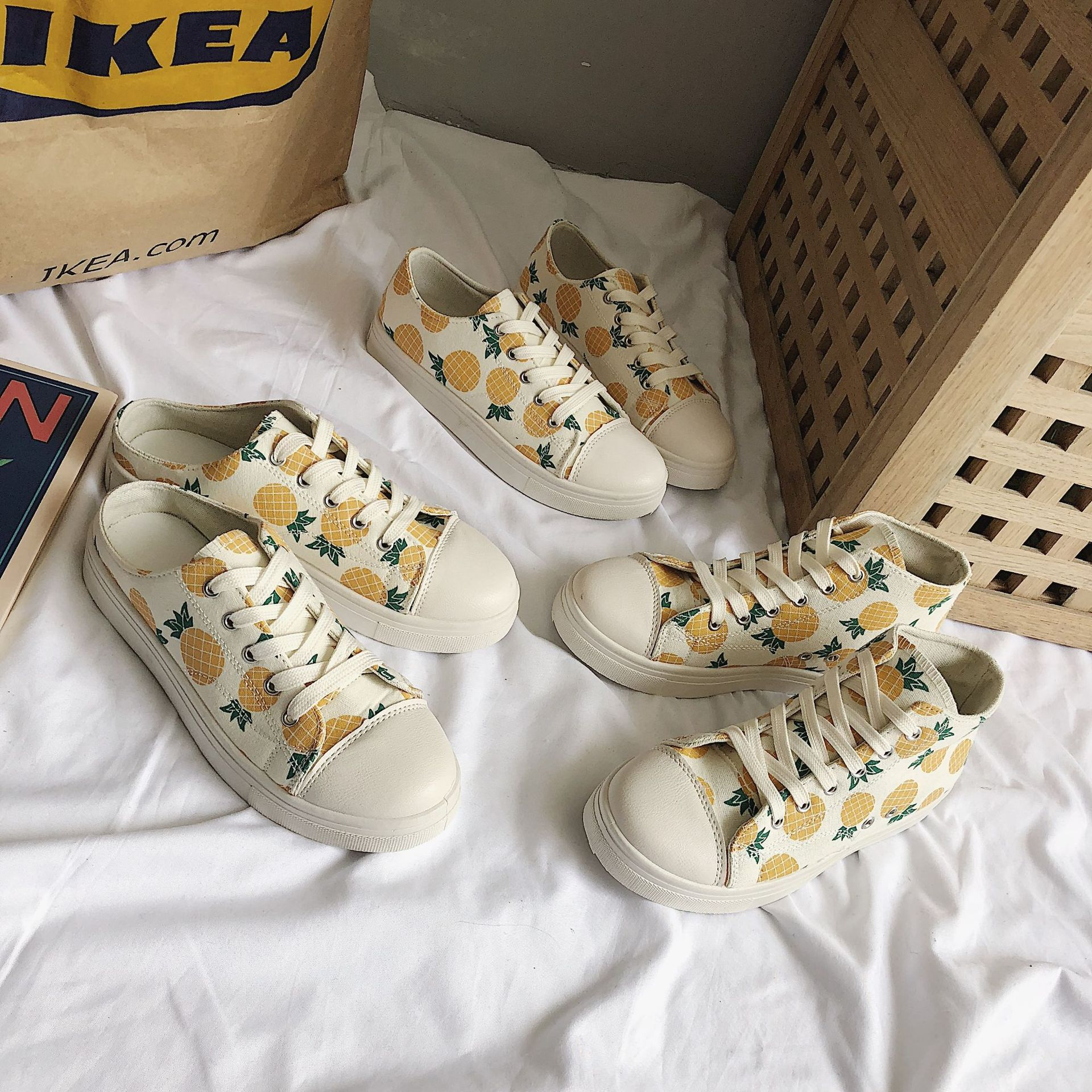 Strawberry Sneakers Online Celebrity White Shoes 2019 Spring New Style Versatile Shoes Children Students Korean-style Casual Can