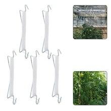 5/10 PCS Tomato Support Hook Flexible V Type Hook Iron Plant Vine Support Tool for Garden Flower Vegetable 32.8ft Rope HFing