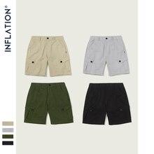 INFLATION2019 yeni erkek gevşek rahat şort 4 parça moda tarzı erkek şort sokak giyim saf renk erkek yaz şort 9320S