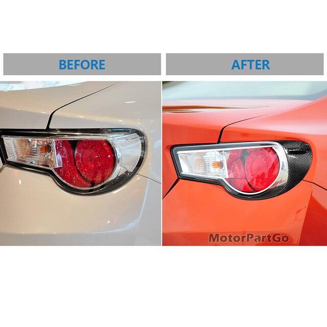 Real Crabon Fiber Head light Eyelid Eyebrow Cover Trim 1pair for Toyota GT86 2012-2016 T233 4