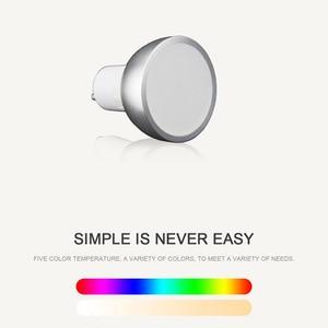 Image 3 - 1 قطعة LED واي فاي الذكية مصباح GU10 لمبة Bombillas RGBW 5 واط عكس الضوء متوافق مع تطبيقات ضوء اليكسا وجوجل المنزل التحكم عن بعد لمبات