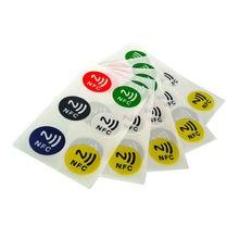 6 sztuk/zestaw NFC Tag naklejki programowalne wielokrotnego zapisu 13.56MHZ RFID tagi Ntag 213 NFC Chip dla Samsung telefon komórkowy NFC płatności