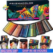 Prismacolor sanford óleo macio lápis de cor 24 36 48 72 150 cor lápis de cor de madeira desenhador esboço material escolar