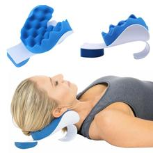 Neck Support Travel Pillow Relief Pillow Neck Shoulder Muscle Relaxer Traction Device Pain Relief Cervical Spine Alignment XA15U byriver tourmaline tourmanium ceramic round neck cervical support pillow collar massager negative ion relief muscle tension