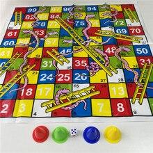 Детская змея лестница пластиковый полет шахматы набор портативный смешная настольная игра семейные вечерние игры игрушки для детей