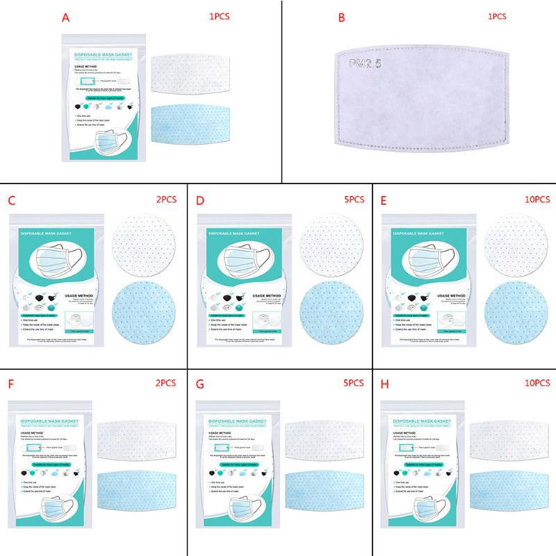 3 Layers Non-Woven Disposable Mask Pad Anti-Haze PM2.5 Dustproof Gasket Replacement Safety Breathable Protective Respirator Filt