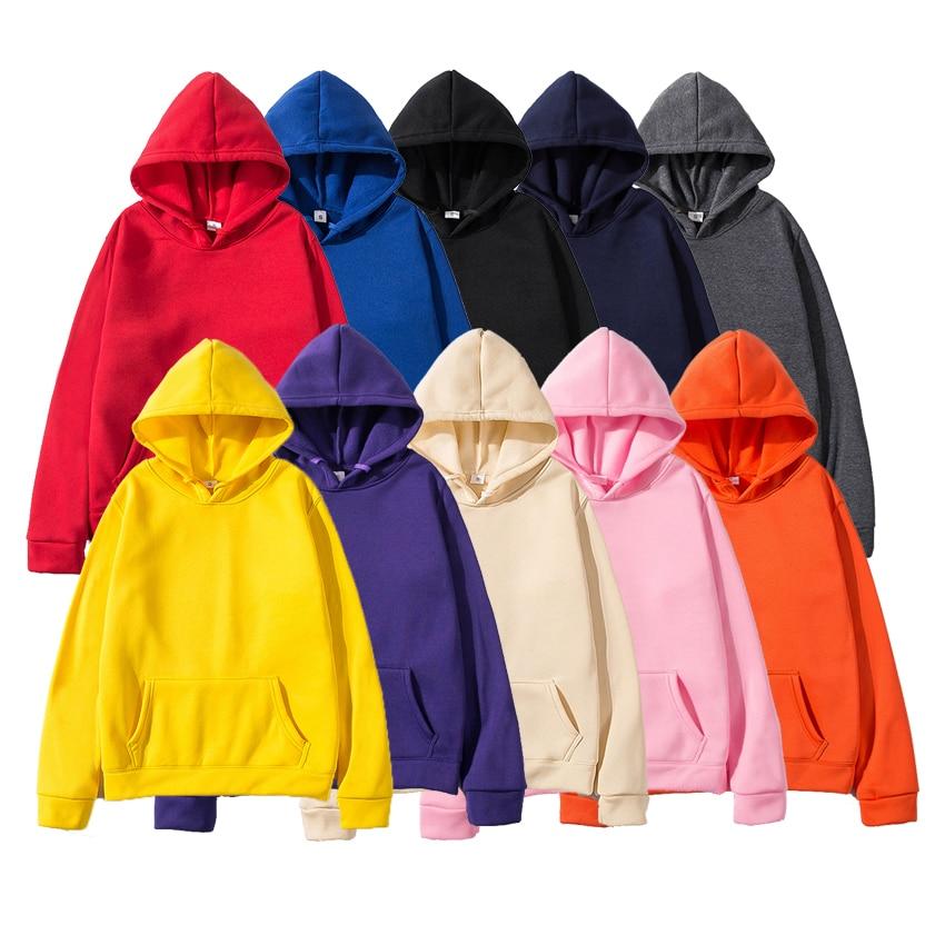 Fashion Brand Autumn Winter Men's Hoodies Male Casual Hoodies Sweatshirts Men's Solid Color Hoodies Sweatshirt Tops Dropshipping
